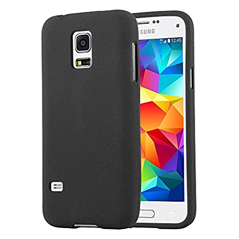 Cadorabo - Ultra Slim TPU Frosted Mate Coque Gel (silicone) pour Samsung Galaxy S5 MINI - Housse Case Cover Bumper in FROSTED-NOIR