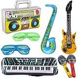 8 PCS Inflatables Guitare Saxoph...