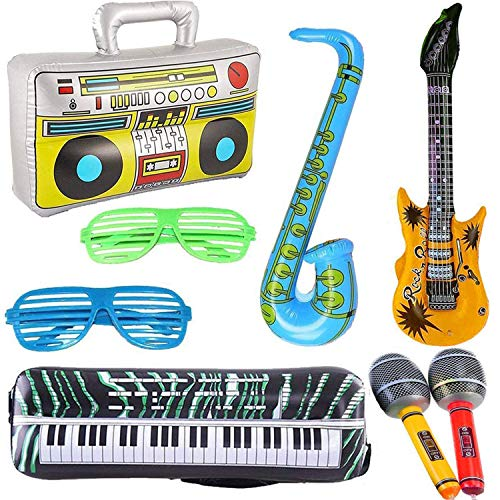 8PCS Inflatables Guitar Saxophon...