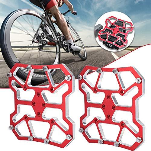 wosume Fahrrad Pedal Adapter, 1 Paar Aluminiumlegierung Schnellspanner Mountainbike Pedal Lock Plattform Adapter Fahrradteile