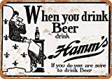 CDecor Very Early Hamm's Beer Blechschilder, Metall Poster,