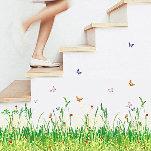 champs-printemps-herbe-fleurs-papillons-plinthe-line-sticker-mural-papier-maison-autocollant-amovibl