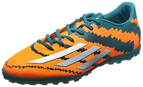 adidas Messi 10.3 Tf Herren Fußballschuhe Orange (Power Teal F14/Ftwr White/Solar Orange)