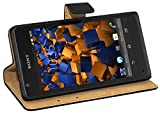 Mumbi Etui en Cuir pour Sony Xperia SP Noir