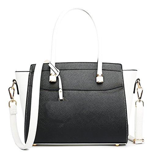 Plover Donna pelle sintetica borsetta Borse a tracolla Borse Messenger Borse cross-body black white