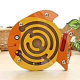 #10: Kidsbele Baby Educational Maze Toys Cartoon Animal Magnetic Maze Series Intellectual Games Small Pen Labyrinth Puzzle Toy Learning Block