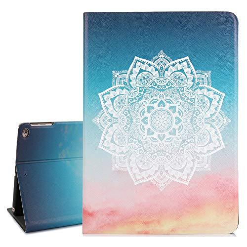 True Holiday iPad Hülle 24,6 cm (9,7 Zoll) Ultra Slim Leicht mit Ständer und Auto Wake Sleep Funktion Schutzhülle Smart Cover für 9,7 Zoll (2017/2018) - Cases Generation Ipad Blumen 2.