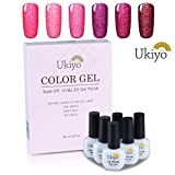 Ukiyo 6pcs nagellack set uv lampe rot Gel Nagellack Farbe Set Soak Off Gel Nail Lack Nail Art Maniküre 8ml