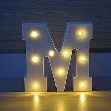 HopeU5® luz LED letras alfabeto luz hasta inscribirse para el hogar de la  boda fiesta f6c1c60d910