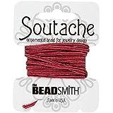 Beadsmith soutache rayón cable 3mm de ancho–Rosa 3m