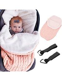 MiniGreen Cachemire Enveloppante Bébé Enveloppe de Poussette Sac de  Couchage en Tricot pour 0-12 7ddf2b47a25