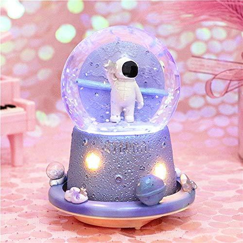 Halloween-kristall-kugel Dreht Schnee Yee Auf Magic Octagon Box Schwingt Kleine Stern Geschenk Weihnachten 1 Silver Star -