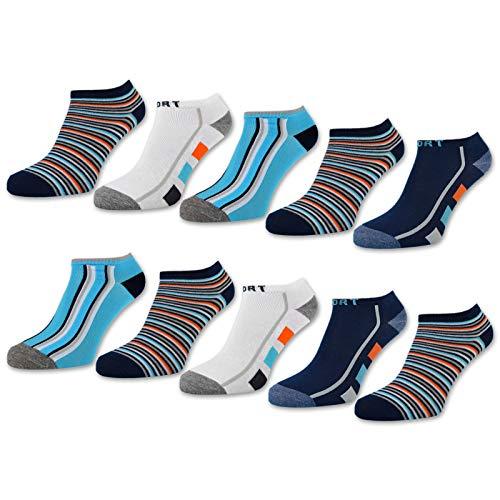 10 Paar Kinder Sneaker Socken Jungen Kindersocken Baumwolle - 56558 (31-34)