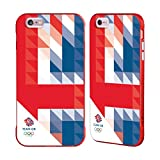 Official Team GB British Olympic Association White Triangle Geometric Union Jack Red Fender Case for iPhone 6 Plus/iPhone 6s Plus