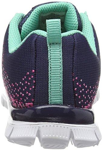 Skechers Appeal Talent Flair, Baskets Basses Fille Bleu (Marine/Multi)