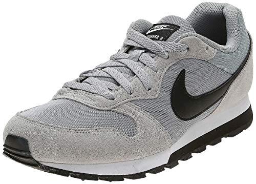 Nike Md Runner 2, Herren Gymnastikschuhe, Grau (Wolf Grey/Black/White 001), 42 - Nike Black Internationalist