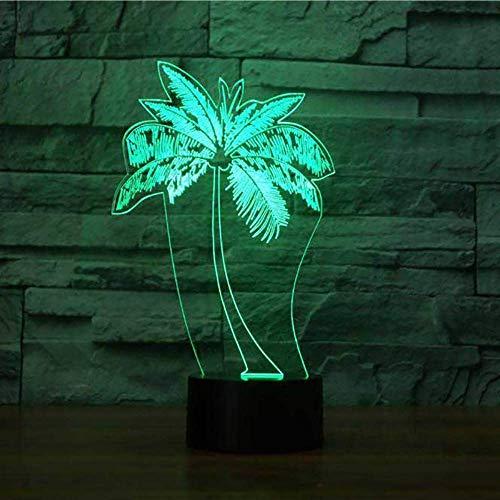 Led Palme Modellierung Nachtlicht Usb 3D Tischlampe Mode Schlafzimmer Luminaria Decor Nacht Baby Schlaf Leuchte Kinder Geschenke (Palme-touch-lampe)