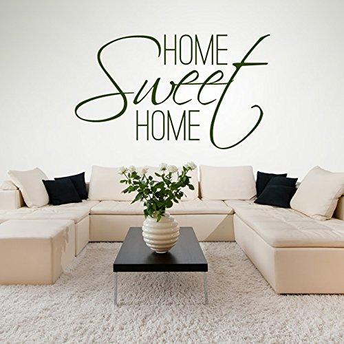 Home Sweet Home Stickers muraux Accueil Sticker Art disponible en 5 dimensions et 25 couleurs Petit Or Métallique