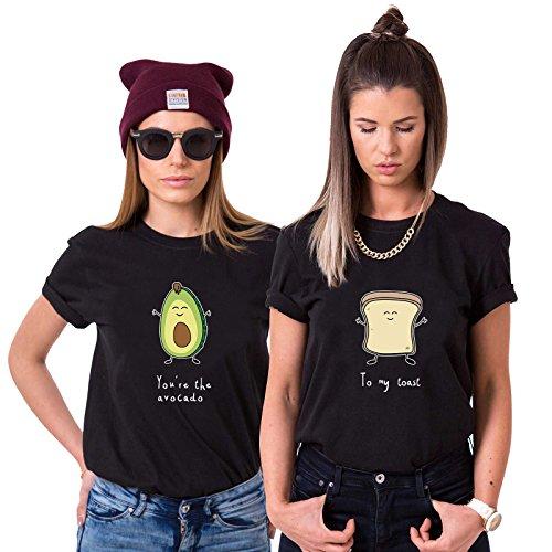 Best Friends T-Shirts für 2 Mädchen Avocado