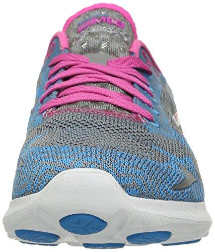 Skechers Go Meb Speed 32016, Baskets Basses femme Charcoal/Blue
