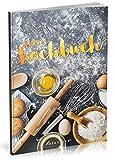 Dékokind Leeres Kochbuch: Für über 80 Lieblingsrezepte || Ca. A5 Softcover || Rezeptbuch zum Selbstgestalten / Selberschreiben mit Inhaltsverzeichnis || Motiv: Backrezepte