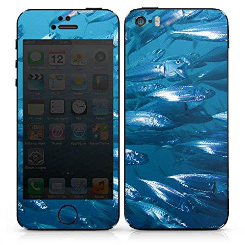 Apple iPhone SE Case Skin Sticker aus Vinyl-Folie Aufkleber Fisch Fische Fischschwarm DesignSkins® glänzend
