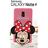 Suave 3D Disney Minnie piel funda Cover Carcasa Cubierta Caso Case Skin de silicona para el teléfono móvil para Samsung Galaxy Note 4