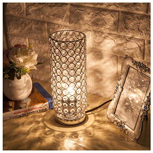 CXD Elegante Mesa de Cristal cromada Decorativa, lámpara de ...