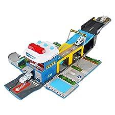 ANNA SHOP Miniature Voiture Enfant Déformation acousto-Optique Camion de Lutte Contre l'incendie Stationnement sur Piste de Course 2 Ans