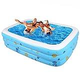 Andea Große Familie Pool Aufgeblähten Haus groß-Pools Sand faltbar Kinder Außenpool Pool dickeres Pool für Erwachsene Badezimmer Set Bad Bad Zylinder-Töpfe Originalität 130CM