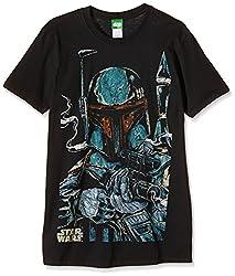 Bravado Herren Star Wars - Boba Fett Sketch T-Shirt, Schwarz 001, X-Large