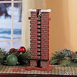 Santa Chimney Christmas Wooden Advent Calendar Amazon Co