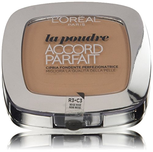 L'Oreal Paris Accord Perfect Polvo Compacto, Tono: Beige Rose R3