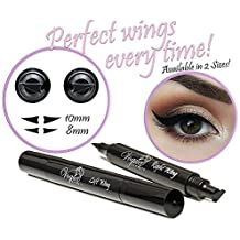 Eyeliner Stamp – by Vogue Effects Black, waterproof, smudgeproof, winged long lasting liquid eye liner pen, Vamp style wing, No Dipping required. 2 Pens