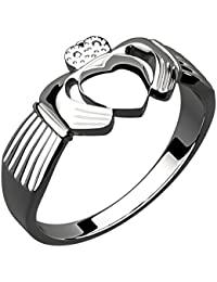 Sterling Silver Irish Claddagh Ring Symbolize Friendship, Love, Loyalty
