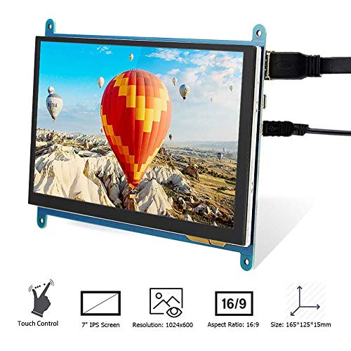 Elecrow Raspberry Pi Display Touchscreen Monitor Anzeige IPS Bildschirm, 7 Zoll 1024X600 HD TFT LCD Display für Raspberry Pi B + / 2B Raspberry Pi 3 Windows 10/8.1/8/7