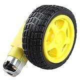 haljia DC Drive Gear Motor Reifen Tire Wheel Set für Smart Auto Roboter für Arduino DIY