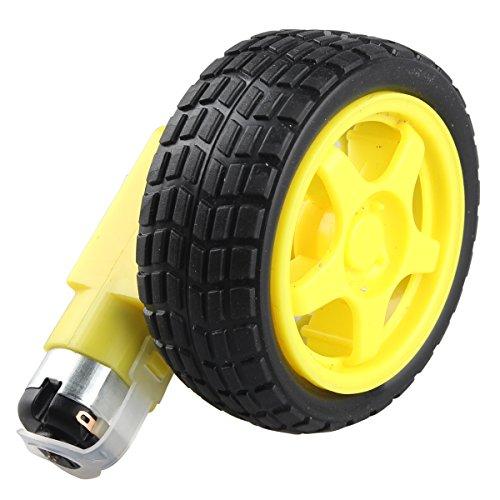 haljia DC Drive Gear Motor Reifen Tire Wheel Set für Smart Auto Roboter für Arduino DIY -