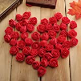 #7: 50pcs 2.5cm Artificial Roses PE Foam Rose Flower Wedding Party Home Decoration Valentine's day Fake Flowers-Red