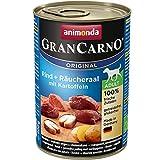 Animonda Gran Carno Hundefutter Adult Rind + Räucheraal mit Kartoffeln, 1 Stück