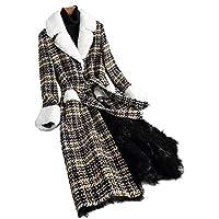 Marcia Abbot(t) Women 2019 Winter Natural Sheep Shearing Wool Coats Female Plush Slim Thicken Warm Overcoat Long Outwear