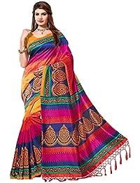 Floral Trendz Women's Mysore Art Silk Saree With Blouse Piece
