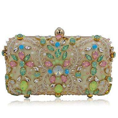Woman Fashion Luxus Hochwertige Nachahmung Diamanten Abend Tasche Beige