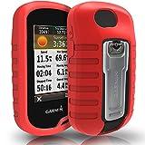 TUSITA Cas pour Garmin Oregon 600 600t 650 650t 700 750 750T - Housse de Protection en Silicone Peau - Accessoires GPS Portables (Rouge)