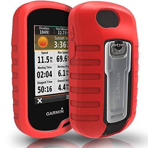 TUSITA Hülle für Garmin Oregon 600 600t 650 650t 700 750 750t - Schutzhülle aus Silikon - Handheld GPS Zubehör (ROT) Handheld-gps