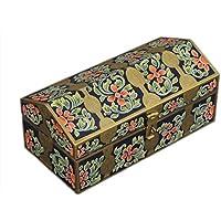 San Valentino regalo, del Ringraziamento Piccola legno bagagli decorativo Keepsake multiuso Box Organizzatore con stampa floreale
