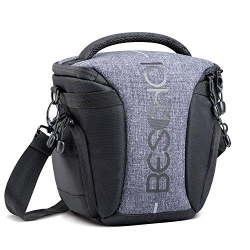 Beschoi Kameratasche Umhängetasche Wasserdicht Fototasche für SLR-Kamera und Zubehör, mit Regenschutz und Tragegurt