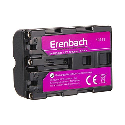 Erenbach PREMIUM Akku für die Sony Alpha 58 / SLT-A58K u.a. --- Ersatzakku für Sony NP-FM500 (1300mAh)
