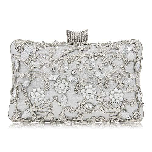 Syrads de noche de lujo Bolso de hombro mujer Glitter Diamond Hard shell Clutches Embrague para Boda...