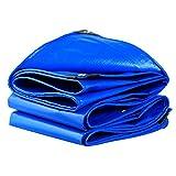 LIYFF- Blaues Wasserdichtes Planen-Auto-Boots-Dach-Regen-Abdeckungs-Camping-Anhänger-Zelt - Blaues Plane-Blatt - UVschutz, Stärke 0.35mm, 180g/m², Multi-Size Wahlen (Größe : 3MX2M)